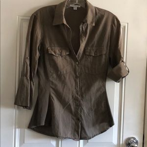 Women's Standard James Perse button collared shirt